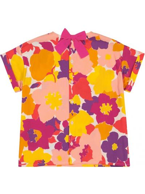 Bawełna bawełna top wzór w kwiaty Il Gufo