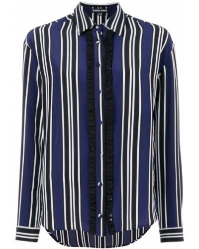 Рубашка в полоску с оборками Markus Lupfer