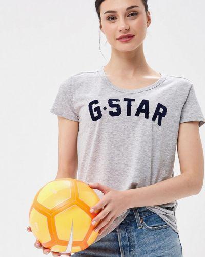Серая футболка G-star
