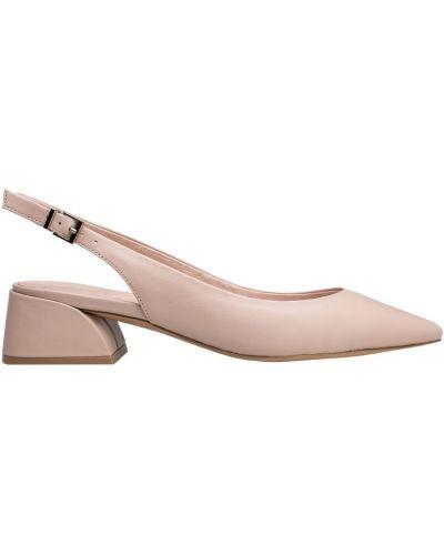 Туфли на каблуке кожаные на низком каблуке Portal