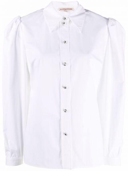 Хлопковая длинная рубашка с воротником на пуговицах Alexa Chung