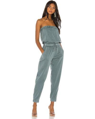 Комбинезон с декольте - синий Yfb Clothing