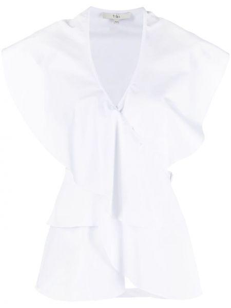 Biały top bez rękawów bawełniany Tibi