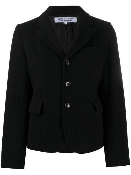Шерстяная черная длинная куртка с воротником Comme Des Garçons Comme Des Garçons