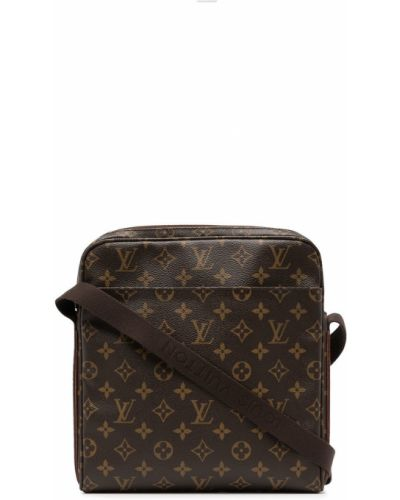 Brązowa torba na ramię skórzana Louis Vuitton