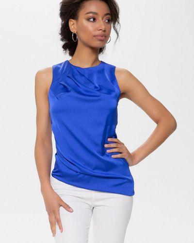 Блузка без рукавов синяя Anushka By Anna Pavlova