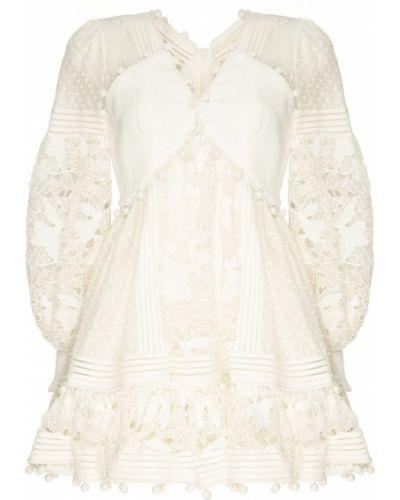 Платье мини с цветочным принтом со вставками Zimmermann