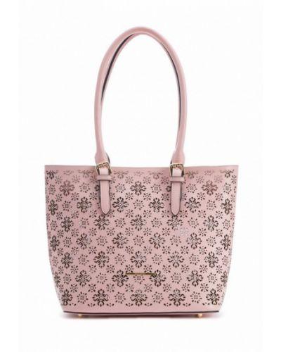 Кожаная сумка шоппер розовый Artio Nardini