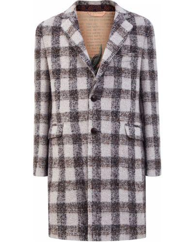 Теплое шерстяное пальто в клетку Etro
