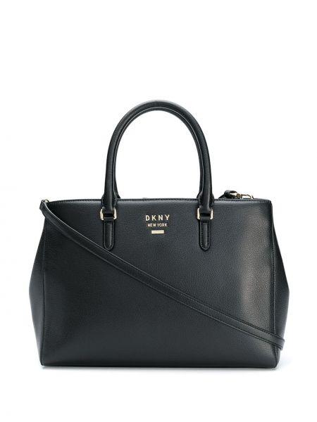 Черная сумка-тоут круглая Dkny