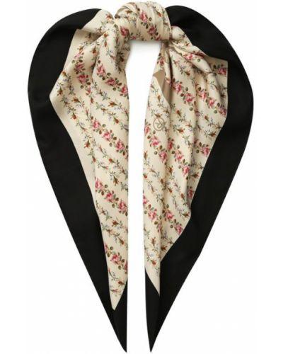 Платок с цветочным принтом из шелка Gucci