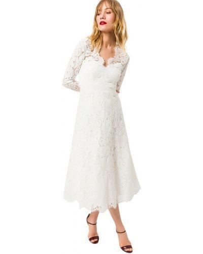 Biała sukienka midi Ivy & Oak