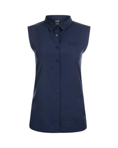 Прямая синяя рубашка без рукавов Jack Wolfskin