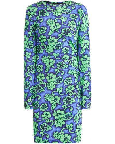 Платье мини с длинными рукавами в рубчик Dsquared2