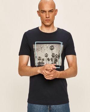 Koszula dzinsowa wełniany niebieski Tom Tailor Denim