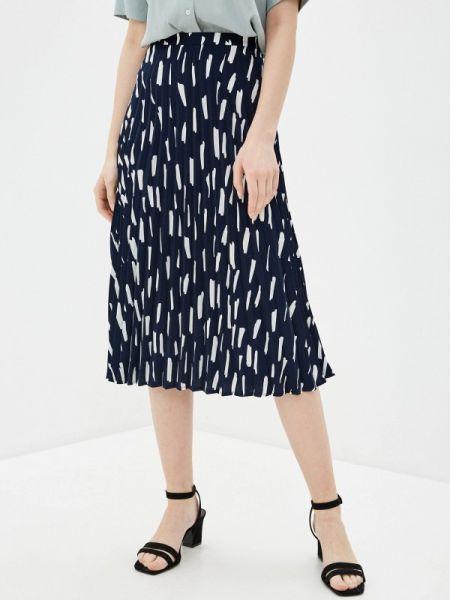 Платье плиссированное синее Sela