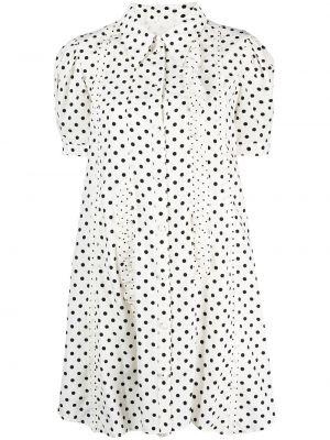 Платье в горошек - белое Sjyp