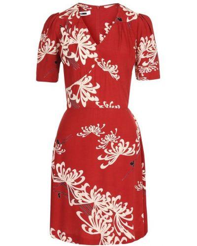 Платье мини с цветочным принтом с V-образным вырезом Mcq