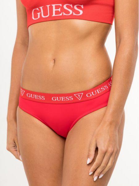 Czerwony bikini Guess