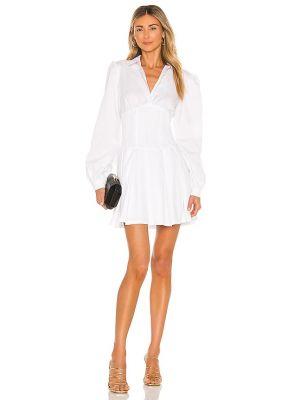 Белое платье на пуговицах Bardot