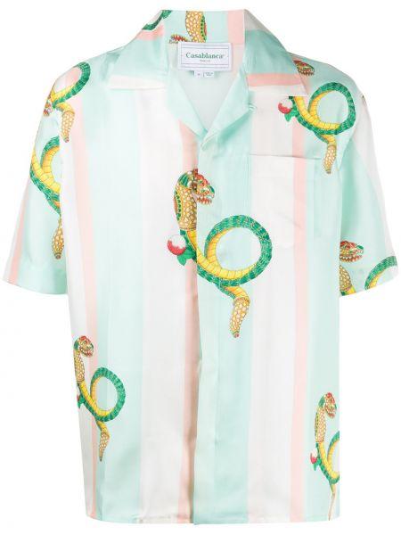 Koszula krótkie z krótkim rękawem jedwab prosto Casablanca