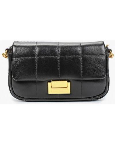 Черная сумка из натуральной кожи Mallanee