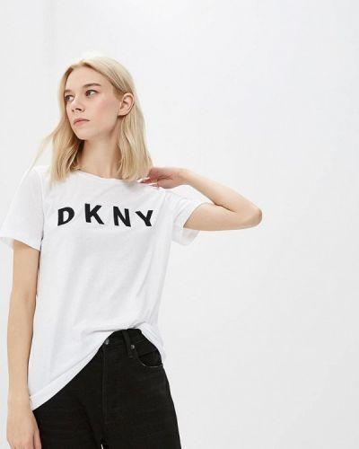 Белая футболка 2019 Dkny