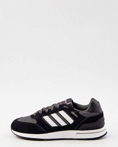 Черные текстильные низкие кроссовки Adidas