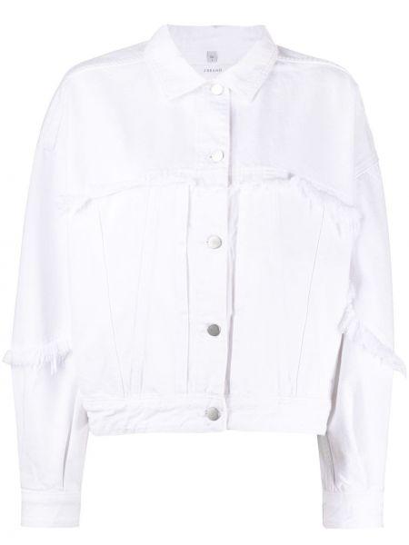 Белая классическая прямая куртка на пуговицах J Brand