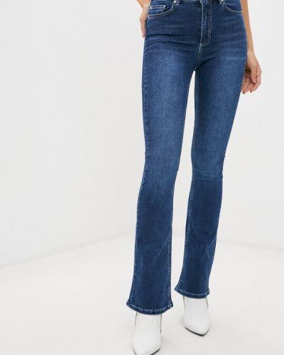 Синие расклешенные широкие джинсы Trendyol