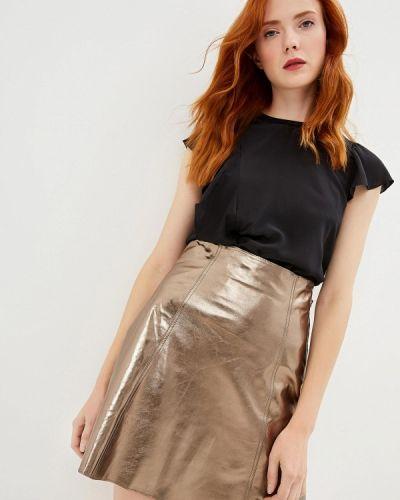 Блузка с коротким рукавом черная Max&co