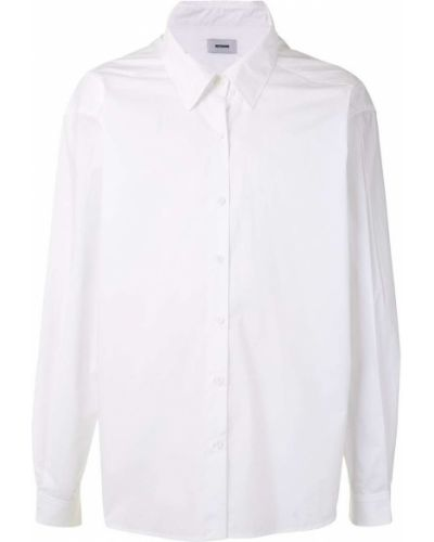 Белая классическая рубашка с воротником оверсайз на пуговицах We11done