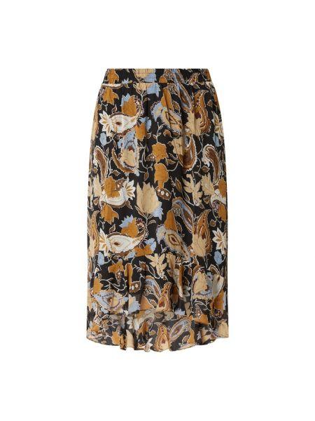 Spódnica rozkloszowana - brązowa Minus