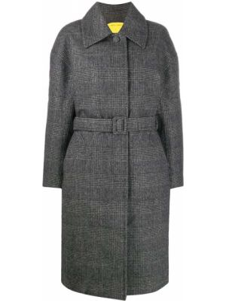 Шерстяное пальто с поясом с воротником на пуговицах Ienki Ienki