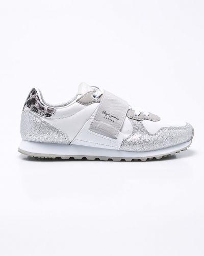 Белые кроссовки Pepe Jeans