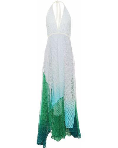 Белое платье миди из вискозы Missoni