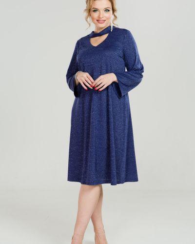 Платье с поясом с V-образным вырезом на торжество марита