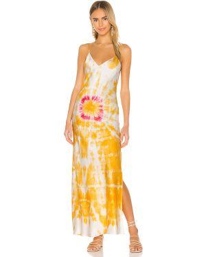 Pomarańczowa satynowa sukienka Dannijo
