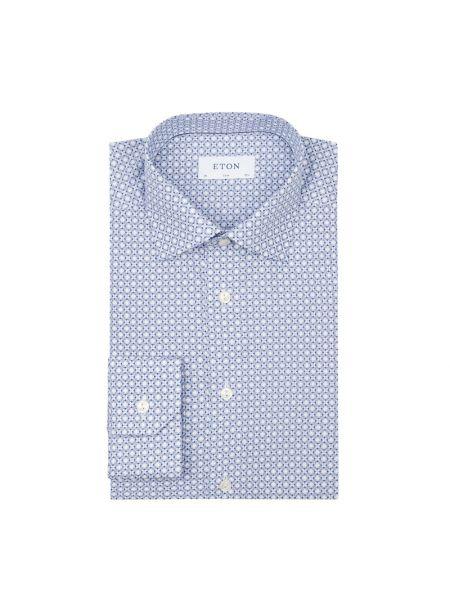 Koszula z długim rękawem długa z popeliny Eton Slim Fit