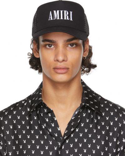 Кожаная кепка - белая Amiri
