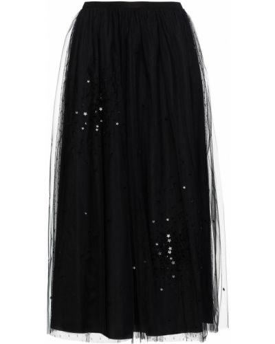 Długa spódnica tiulowa - czarna Redvalentino