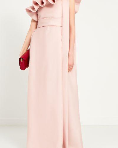 Вечернее платье розовое на одно плечо Valentino