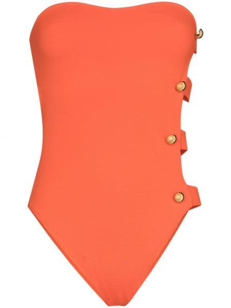 Pomarańczowy strój kąpielowy bandeau Alexandra Miro