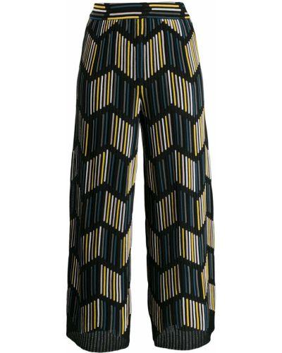 Укороченные брюки в рубчик черные M Missoni