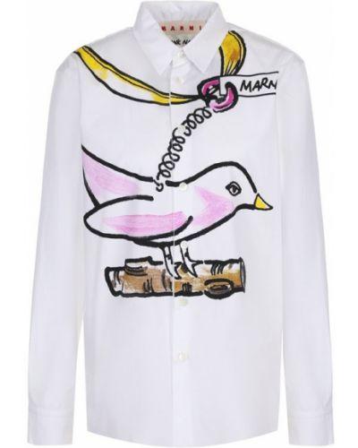 Блузка хлопковая с принтом Marni