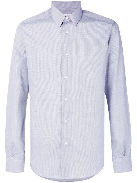 Niebieska klasyczna koszula bawełniana z długimi rękawami Fashion Clinic Timeless