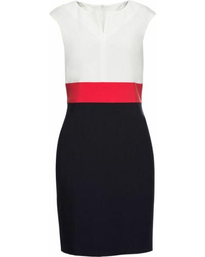 Деловое платье футляр красный Bonprix