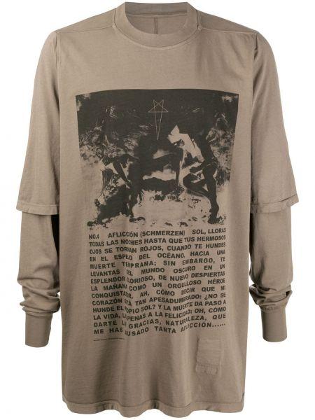 Koszula z długim rękawem długa z nadrukiem Rick Owens Drkshdw