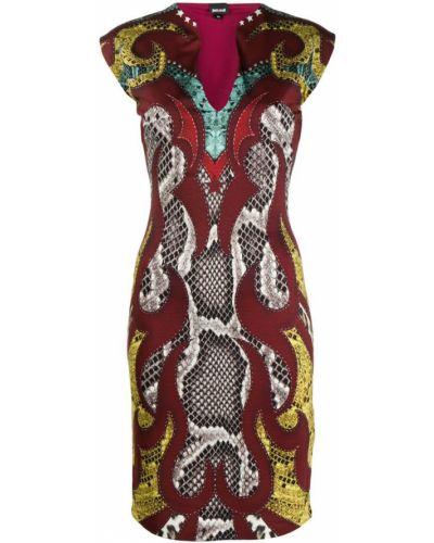 Платье футляр с V-образным вырезом Just Cavalli