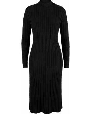 Платье миди вязаное с длинными рукавами Bonprix